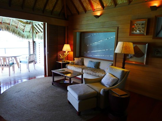 Four Seasons Resort Bora Bora:                   Living room