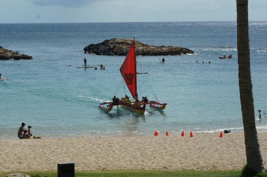 Aulani, a Disney Resort & Spa:                   Catamaran Returning to lagoon from Cruise