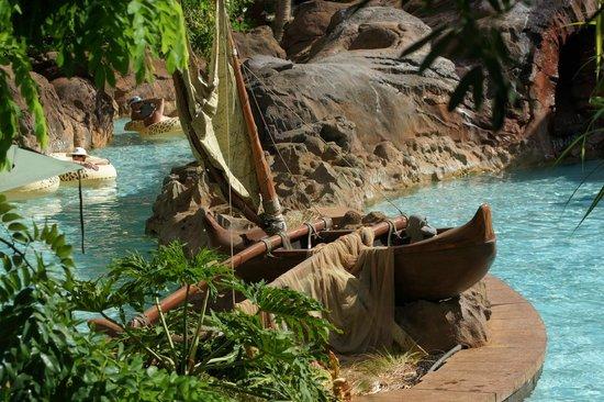 อูลานี อะดิสนี่ย์ รีสอร์ท & สปาอินฮาวาย:                   Lazy River Includers Local Themes