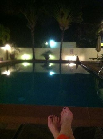 Ocean Lodge:                   pool at night