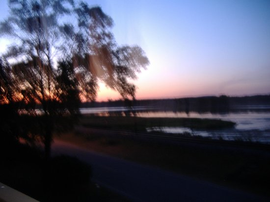 The River Nest B&B: Sunset from Deck