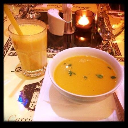 Salaam Bombay: mango lassi and mullingtawny soup