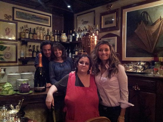 Lesa, Italy:                   Me and family with owner, Fabrizia
