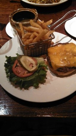 Joe Theismann's Restaurant :                   Burger and fries - great