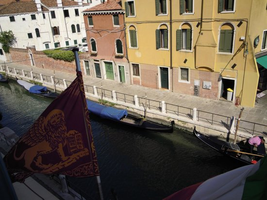 HOTEL OLIMPIA Venice:                   view from front double room                 