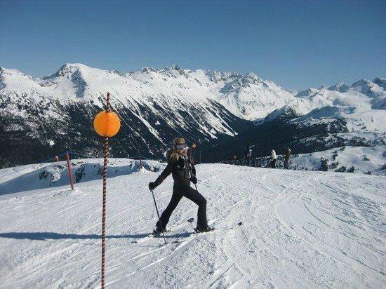 Debra Savittieri skiing Whistler Blackcomb.