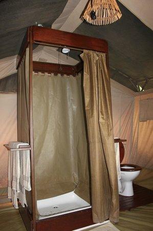 Kilima Camp:                   la douche