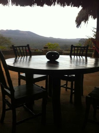 Hacienda Puerta Del Cielo Eco Spa:                   view from the dining area