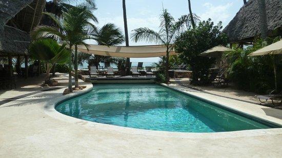 Sunshine Hotel:                   les 2 piscines en bord de plage