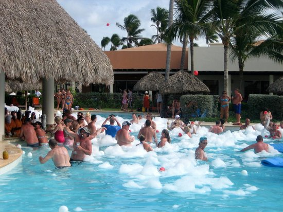 Secrets Royal Beach Punta Cana:                   Foam party on Valentine's Day