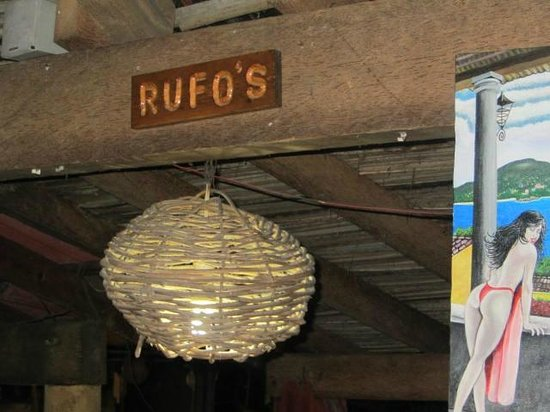 Rufo's Grill:                   The sign