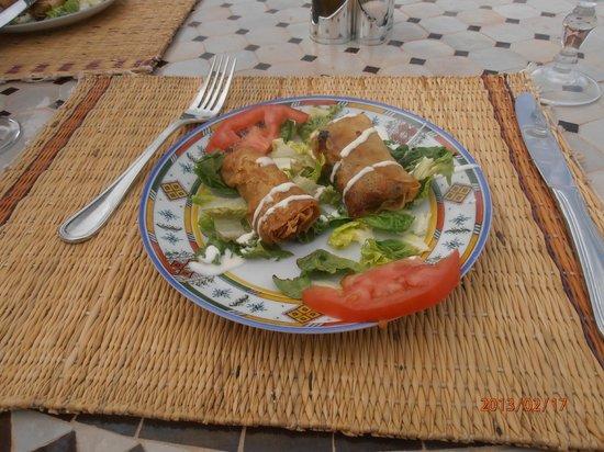 Hotel Tatfi:                                     des rouleaux aux légumes....un féstin!