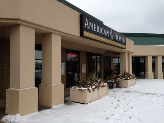American Harvest Eatery:                   snowy cold