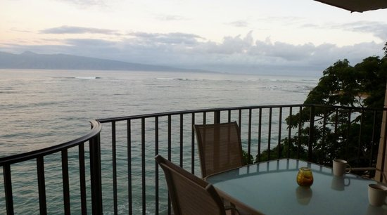 Kahana Reef:                   View from Lanai