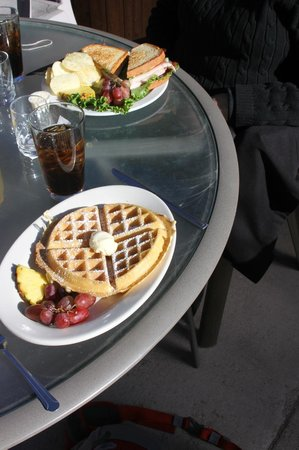 The Happy Cooker:                                     Pecan waffle and club sandwich