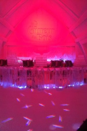 Hotel de Glace:                   one of the bars in the club at night