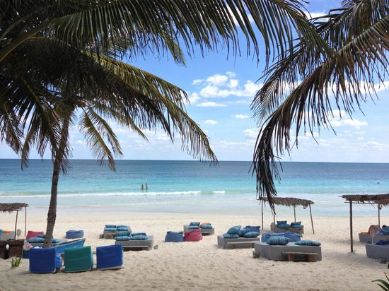 Be Tulum Hotel:                   Lovely beach area