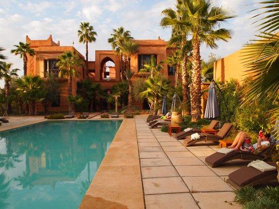 Tigmiza - Suites & Pavillons:                   Heerlijk aan het zwembad (in februari)...