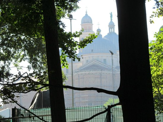 Orto Botanico di Padova:                   St Anthony's Basilica, as seen from Orto Botanico Garden