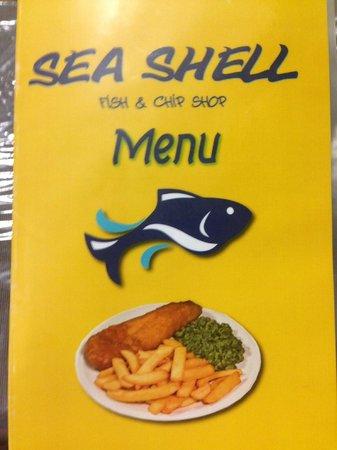 Seashell Fish & Chip Shop:                   Colourful Menu