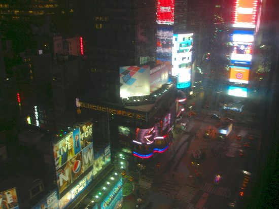 New York Marriott Marquis:                                     View of Times Square from room.