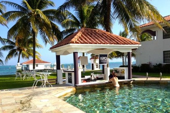 Changes In Latitudes Bed and Breakfast:                   Yacht club pool and swim up bar