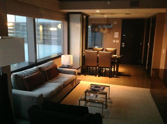 Vdara Hotel & Spa:                   Executive Corner Suite Living Room
