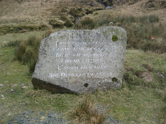 Muckish Mountain:                   Bridge of Sorrows Stone.