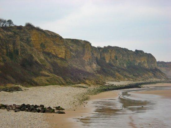 Saint-Laurent-sur-Mer, France :                                     Cliffs over Omaha