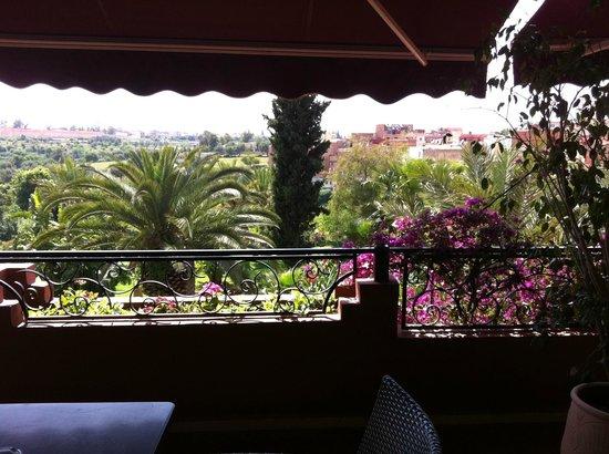 Zaki Hotel: La vue de la terrasse de la reception