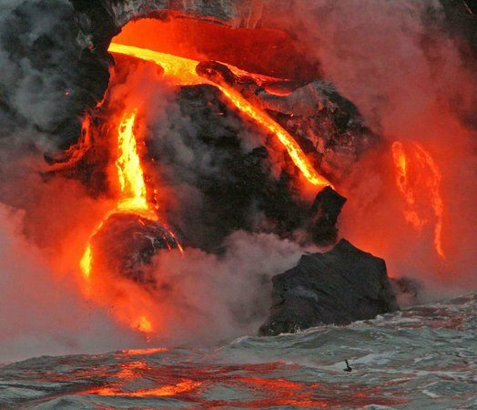 Lava Roy's Ocean Adventure Tours:                   Lava flow Hawaii