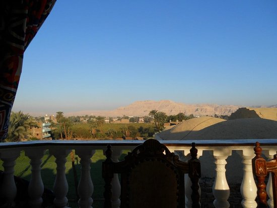 Cleopatra Hotel Luxor:                   view from the terrace