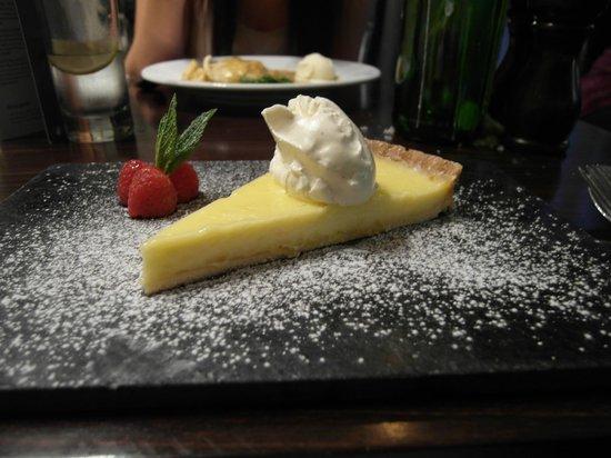 The Culbone:                                     Yummy! lemon tart for dessert