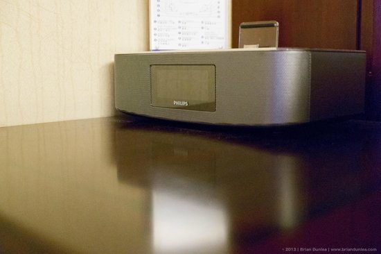 Metropark Park Hotel Kowloon:                   Radio, alarm, iPod/iPhone player.