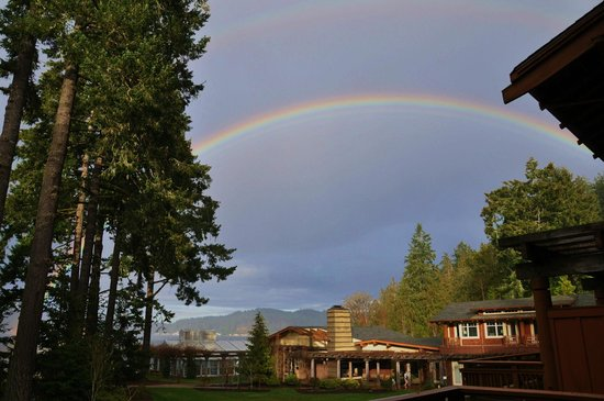 Alderbrook Resort & Spa :                                     Rainbow over the lodge