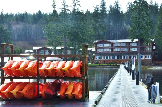 Alderbrook Resort & Spa :                                     View from the dock