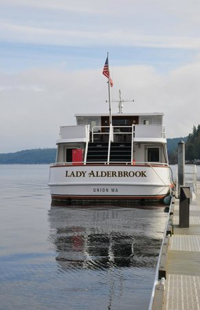 Alderbrook Resort & Spa:                                     Lodge boat