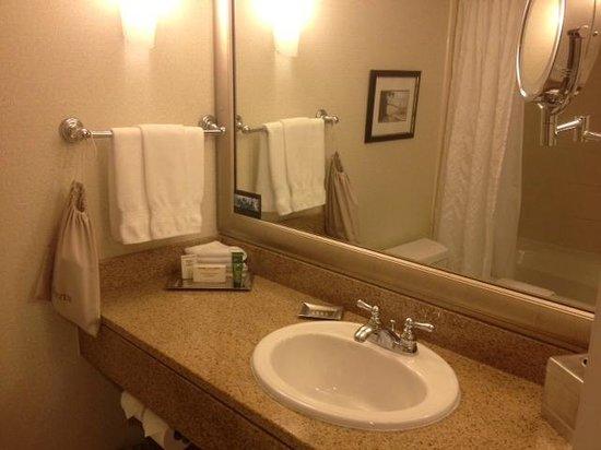 Hilton Vancouver Metrotown:                   bathroom