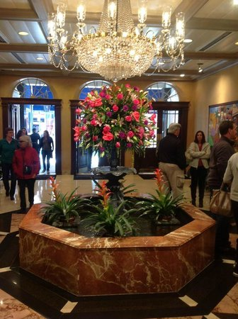 Royal Sonesta New Orleans:                   The elegant lobby