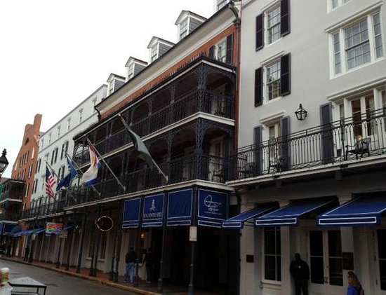 Royal Sonesta New Orleans:                   Hotel seen from Bourbon Street