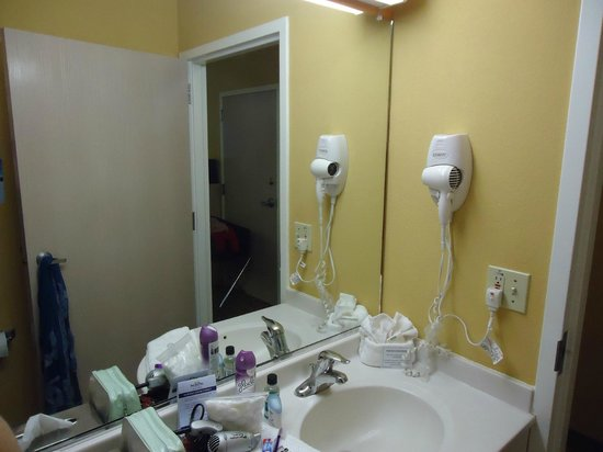 Microtel Inn & Suites by Wyndham Palm Coast:                   Room #119 - Plenty of hot water. Toiletries, Hair dryer