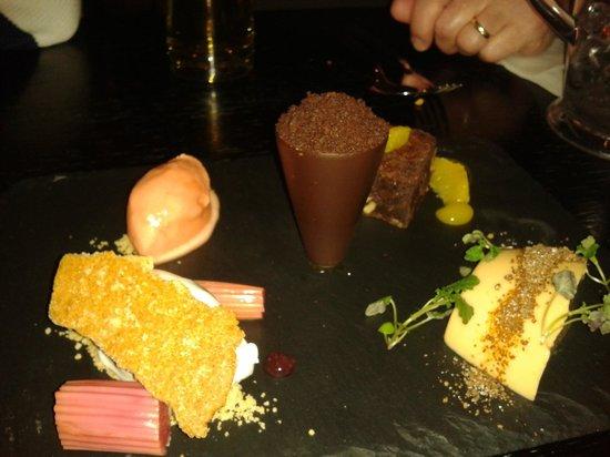 Fusion Room:                   assiette of desserts