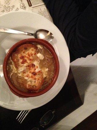 Pizzeria Tito Luigi:                                     French onion soup. yum!