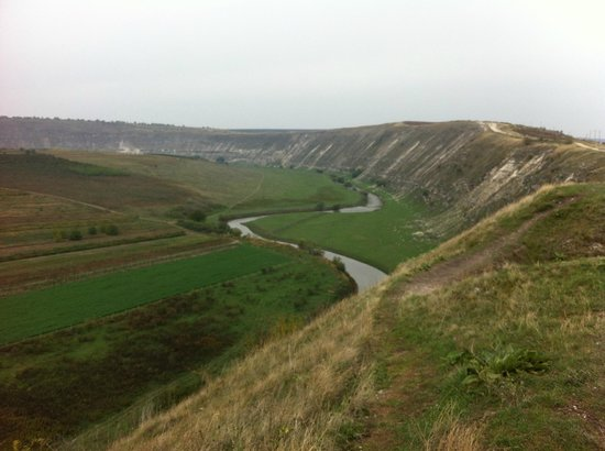 Old Orhei Archeological Complex:                                                                         View of River and Cliffs
