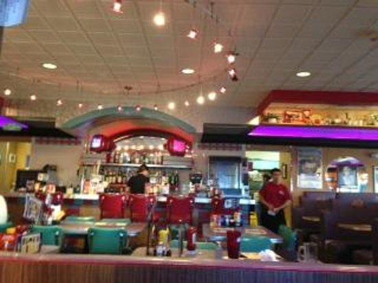 Mel's Diner :                   Inside decor