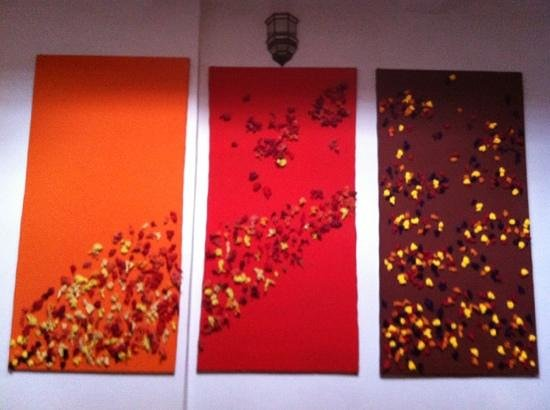 Riad El Az:                   beautiful art work on the wall