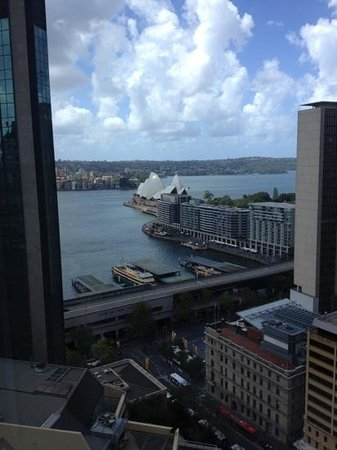 Sydney Harbour Marriott Hotel at Circular Quay:                                     view from room 2603