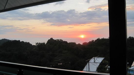 Gaia Hotel & Reserve:                                     Sunset from the restaurant