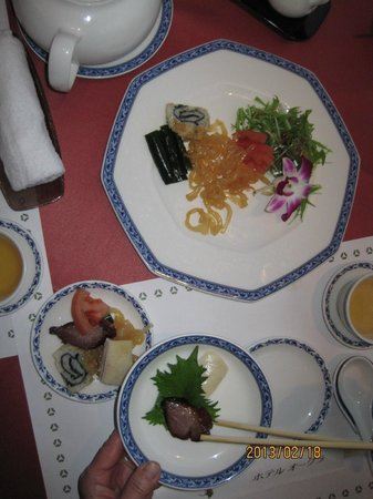 Chineserestaurant Togen Hotel Okura Yokohama:                                     One of the dishes in a course menu, appetizer