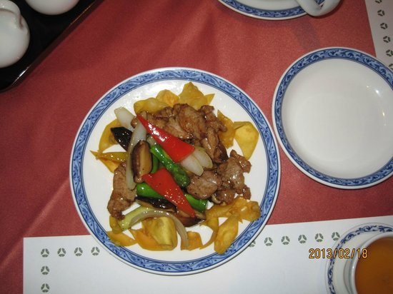 Chineserestaurant Togen Hotel Okura Yokohama:                                     One of the dishes in a course menu, beef with vegetable